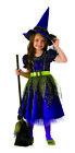 Twilight Stars Green Purple Wicked Witch Of The West Girls Halloween Costume