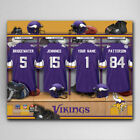 Personalized NFL Locker Room 18x24 Canvas Print - Perfect Gift for Man Cave