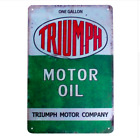 TRIUMPH MOTOR OIL Vintage METAL TIN Motorcycle Advert Retro Sign - 30cm x 20cm £19.95 GBP on eBay