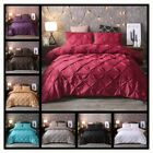 Luxury Style Pinch Pleat Duvet Cover Set Hypoallergenic Super Soft Bedding Sets image