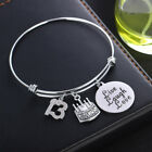 Birthday Gift For Her Mom Aunt Uncle Girls Key Chains Pendant Bracelet Jewelry