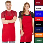 Apron Commercial Restaurant Home Bib Spun Poly Cotton Kitchen Aprons