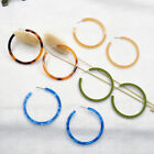 New Round Circle Acrylic Tortoise Ear Hoop Resin Earrings For Women Jewelry Gift