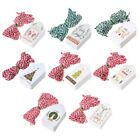 Внешний вид - 50Pcs Paper Tags With String DIY Craft Party Supplies Favor New Year Xmas Decor