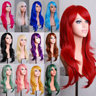NEW Women 70cm Full Curly Wigs Cosplay Costume Anime Party Hair Wavy Long Wig