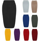 Women Tunci High Elastic Stretchy Skirt Foraml Office Pencil Plain Bodycon Skirt