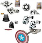 Star Wars Stud Earrings YODA, GALACTIC EMPIRE, DARTH VADER, STORMTROOPER $11.5 USD on eBay