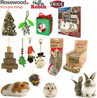 ROTASTAK NATURALS SMALL ANIMAL CHRISTMAS STOCKING TREATS GNAWS TOYS GIFTS BED