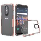 For LG Stylo 4/Stylo 5 Shockproof Silicone Rubber TPU Clear Bumper Hard Case