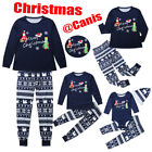 USA Christmas Family Matching Pajamas PJs Set Dad Mum Kids Baby Xmas Sleepwear