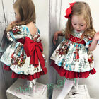 Kyпить USA Christmas Toddler Kid Baby Girl Xmas Festival Flared Party Santa Swing Dress на еВаy.соm