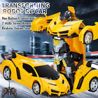 Kids Toy Transformer RC Robot Sports Car Remote Control Car Best Kids Xmas Gifts