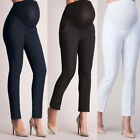 Women Elastic Belly Protection Maternity Pregnant Leggings Trousers Loose Pants