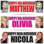 2 PERSONALISED PHOTO BIRTHDAY BANNERS 36