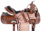 Barrel Saddle Used 14 15 16 17 Western Trail Riding Racing Leather Horse Tack