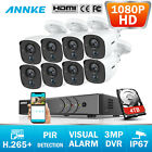 ANNKE 8CH Überwachungskamera 5-IN-1 3MP DVR PIR Detektion 2MP IP67 Kameras H265+