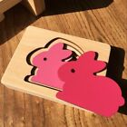 Puzzle Toy Children Animal Carton 3D Babies Wooden Jigsaw Multi Layer Kids Toys