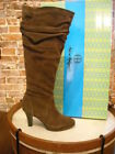 Hot In Hollywood Brown Suede Slouchy Boots NEW