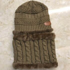 Kids Boys Girls Winter Warm Knit Hat and Scarf Set Beanie Cap Circle Scarf Shawl