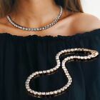 Gold Plated Cubic Crystal Choker Necklace Tennis Chain Jewellery Novelty  Hot