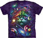 NEW COSMIC CAT Planet Solar System Space Stars Galaxy Moon The Mountain T Shirt