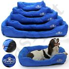 Dog Bed Blue Pet Puppy Faux Fur Washable Deluxe Cushion S M L XL XXL Easipet