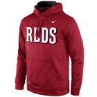 Nike Cincinnati Reds Speed KO Wordmark Logo Therma-FIT Pullover Fleece Hoodie on Ebay