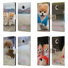 BOO-THE WORLD'S CUTEST DOG PLAYFUL LEATHER BOOK WALLET CASE FOR MOTOROLA PHONES