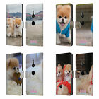 OFFICIAL BOO-THE WORLD'S CUTEST DOG PLAYFUL LEATHER BOOK CASE FOR SONY PHONES 1