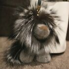 20cm Large Real Mink Fur Lion Bag Charm Keychain Kids Toy Doll Xmas Gift