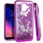 For Samsung Galaxy A6 (2018) TPU Rubber Flowing Waterfall Liquid Glitter Case