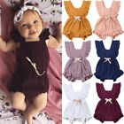 Внешний вид - Newborn Baby Girls Ruffle One-Pieces Romper Bodysuit Jumpsuit Outfits Sunsuit