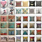Vintage Cotton Linen Pillows Case Sofa Bed Waist Throw Cushion Cover Home Decors image