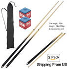 "58"" 2-Piece Wood Billiard Pool Cue Stick 13mm,19oz ,US Snooker chalk Cues 550g $25.64 USD on eBay"