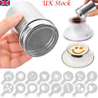 Chocolate Cappuccino Coffee Sugar Cocoa Powder Shaker Sprinkler+Coffee Stencils