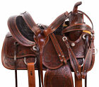 Horse Saddle Western Comfy Pleasure Trail Antique Black Leather Show Tack Set