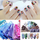 10/16/50Pcs Holographic Nail Foils Set Shell Silver Rose Manicure Stickers Decal