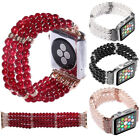 Women Pearl Stretch Bracelet Watch Band Strap For Apple Watch iWatch 4/5 40/44mm image