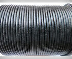 1mm Leather Cord Round Black 1 To 10 M Thong, Necklace For Jewellery Making.