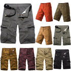 Mens Military Camo Combat Army Summer Casual Cargo Pants Baggy Shorts Trousers