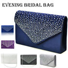 8e371d085b961 Retro Strass Satin Damentasche Handtasche Abendtasche Clutch Umhängetasche  Party