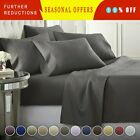 DEEP POCKET 1800 COUNT BAMBOO SERIES 6 PIECE BED SUPER SOFT SHEET SET ALL SIZES image