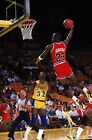 Michael Jordan - Slam Dunk Basketball Art Large Poster / Canvas Picture Prints