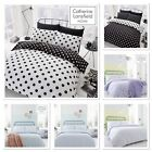 Catherine Lansfield Polka Dot Easy Care Duvet Cover Bed Set 3 Colours Available
