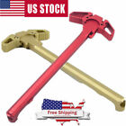 Mil-Spec AR 223 Charging Handle RED Metal Ambidextrous AMBI Handle Accessory New
