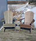 Adirondack Chair Folding In Poly Lumber *recycled Plastic* Natural Grain Wood