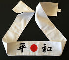 Japanese Martial Arts Sports Hachimaki Headband Red White 15 Kanji Made in Japan