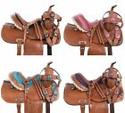 Youth Saddle Used 10 12 13 Comfy Leather Trail Kids Western Horse Pony Tack Set