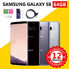 Samsung Galaxy S8 64gb Android Mobile Phone Unlocked Gsm 4g Lte Grade A+++