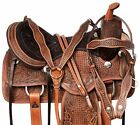 Trail Saddle 16 17 18 in Comfy Cush Leather Hand Tooled Western Horse Tack